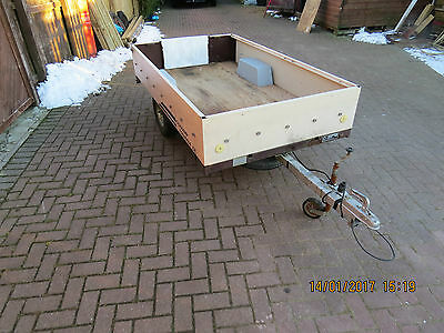 8ftx4ft Lightweight Trailer + cover + never used new spare wheel, Camping tent