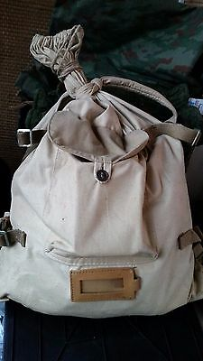 Soviet Russian Soldier Backpack VESHMESHOK Original Canvas Tan White Afghan War