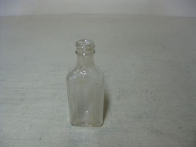 Vintage Clear Glass Small Illinois Empty Bottle
