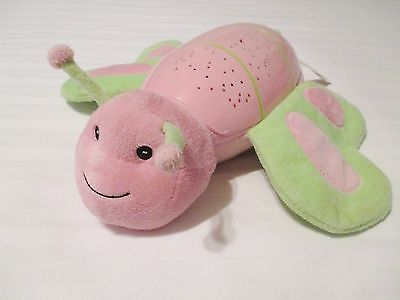 Summer Infant Pink & Green Butterfly Light Up Music Sounds Nursery Toy EUC