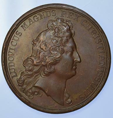 France - Louis XIV 1685 - Construction of Port Royal by Mauger bronze medal