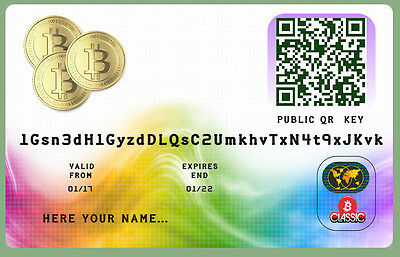 Bitcoin Wallet Plastic cards