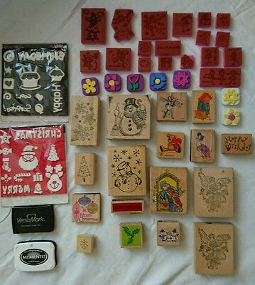 Bundle of Dovecraft and Anitas Wooden rubber stamps