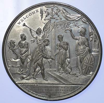 Queen Victoria - 1838 Visit to the City of London medal by Barber 61 mm