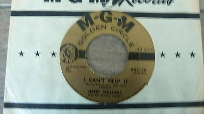 Hank Williams - I Can't Help It 1960s USA 45 GOLDEN CIRCLE