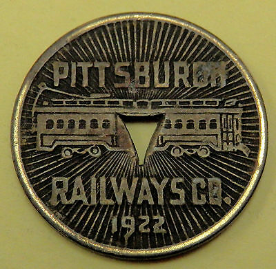 1922 Pittsburgh Railways Co. Good For One Fare Token