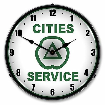 Cities Service Lighted Wall Clock