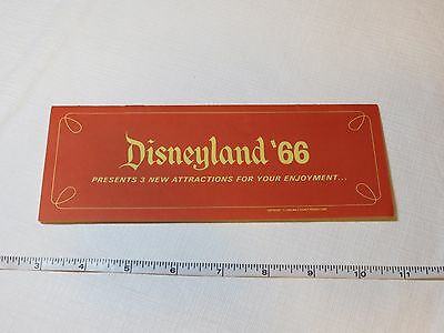 Disneyland '66 New Attractions vintage RARE booklet Small World Primeval World
