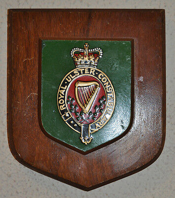 Royal Ulster Constabulary mess wall plaque shield RUC Police Northern Ireland