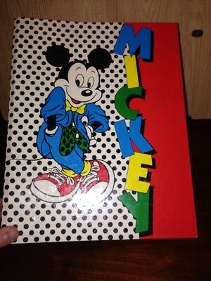 1990s Style Mickey Mouse A4 Folder From Woolworths