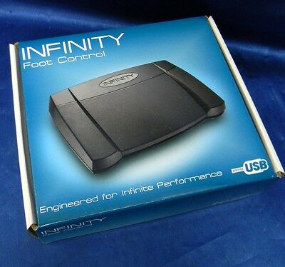Infinity IN-USB-2 USB Foot Control Pedal Transcription Dictation