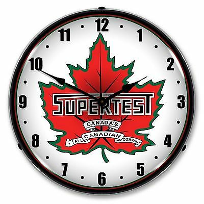 Super Test Gas Lighted Wall Clock