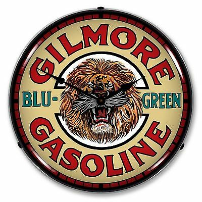 Gilmore Gasoline Lighted Wall Clock