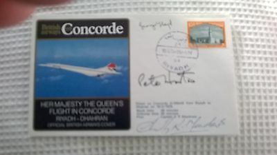Her Majesty The Queens Flt In Concorde Riyadh-Dhahran Crew Signed