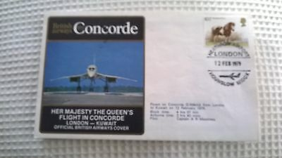 Her Majesy The Queens Flt In Concorde London-Kuwait