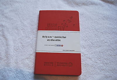 Turkish Airlines Learn Discover Fly Plain Notebook New