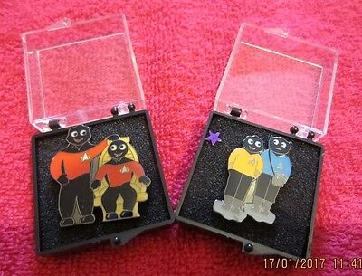 Star Trek Lapel Badges (Kirk/spock & Picard/riker)