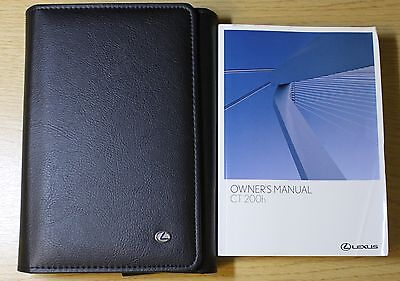 LEXUS CT 200h HANDBOOK OWNERS MANUAL WALLET 2010-2014 PACK 6542 !
