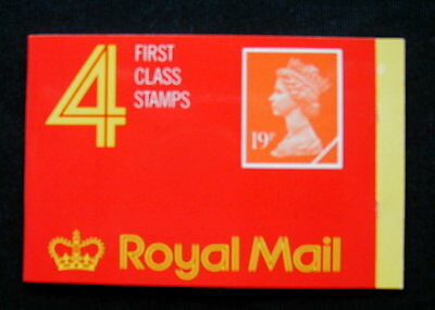 Great Britain Unexploded Complete Postage Stamp Booklet 4 first class 19 p E)