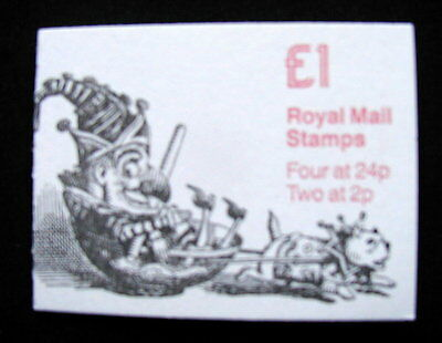Great Britain Unexploded Complete Postage Stamp Booklet 1 £ PUNCH