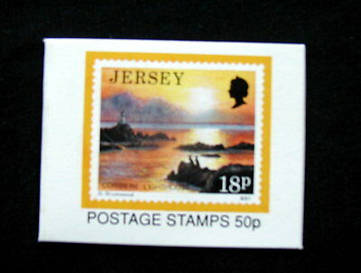 Great Britain Unexploded Complete Postage Stamp Booklet Jersey 50 p 18 p