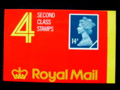 Great Britain Unexploded Complete Postage Stamp Booklet 4 second class 14 p D)