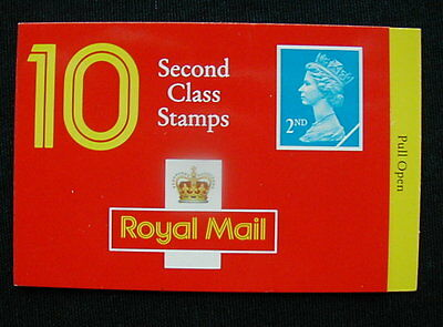 Great Britain Unexploded Complete Postage Stamp Booklet 10 second class N)