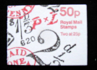 Great Britain Unexploded Complete Postage Stamp Booklet 50 p PAID AND TO PAY