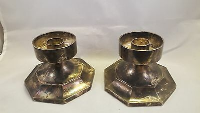 Vintage silver plate Candle Stick holders