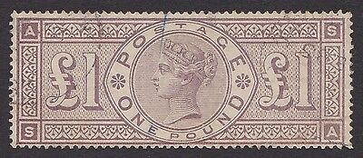 SG185 1884 £1 Brown-Lilac fine used