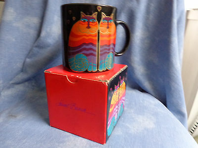 COLLECTIBLE LAUREL BURCH RAINBOW CATS COFFEE TEA MUG w/ BOX # MG425 MADE JAPAN