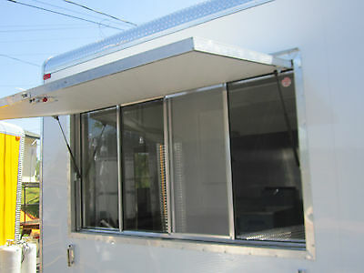 New Concession Trailer Serving Window, 40 inches X 74 inches