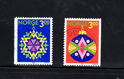Norway #952-953  1989  Christmas   F-Vf  Used