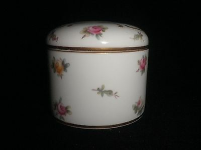 Copelands China England Vintage Rose Patterned Trinket Vanity Pot Excellent Cond
