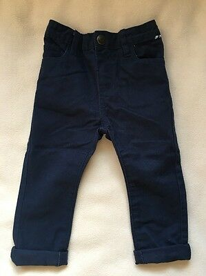 Baby Boys Navy Chino Trousers 9-12 Months