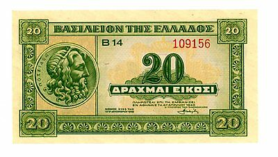 Greece ... P-315 ... 20 Drachmai ... 1940 ... *UNC*