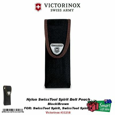 Victorinox Swiss Army Nylon Swisstool Spirit Belt Pouch, Black/Brown #33258
