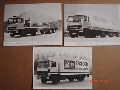 BEDFORD  TM  truck and tractor  3 original press photos 1976.