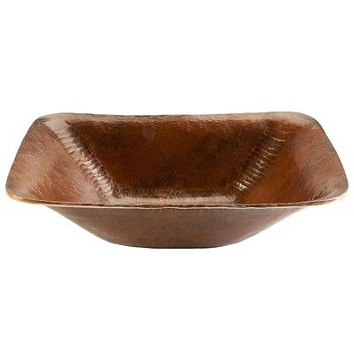 PVREC17 - Rectangle Hand Forged Old World Copper Vessel Sink