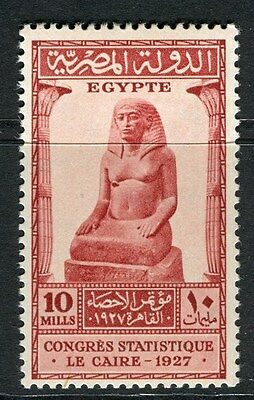 EGYPT;  1927 Statistical Congress issue Mint hinged 10m. value