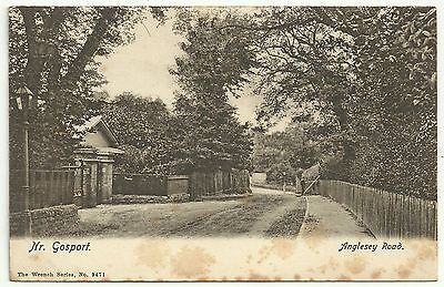 Hants postcard Anglesey Road near Gosport