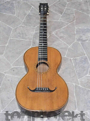 very old all solid historic PARLOR GUITAR Gitarre guitare Germany ~1900