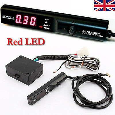 12V Digital APEXI AUTO TIMER for NA & TURBO Black Pen Shaped Control Red LED