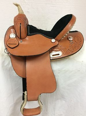 "Dakota Saddlery  New 13"" #314 Barrel Racing Saddle Full Quarter Horse Bar"