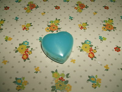 Rare Vintage 1980s Blue Cased Pearlescent Heart eraser rubber gomme gommine