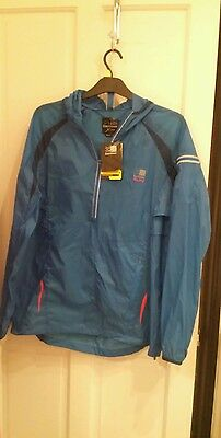 Bnwt Mens Karrimor Lightweight Xlite Jacket Blue Large New With Tags