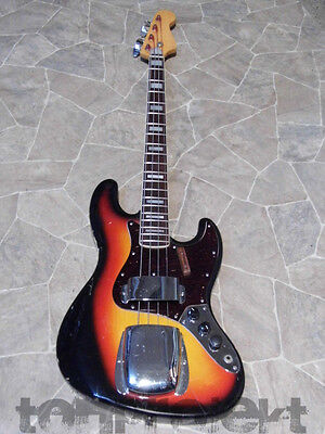 vintage MiJ Jazzbass Jazz Bass 4string sunburst lawsuit Bassgitarre 1970` Japan