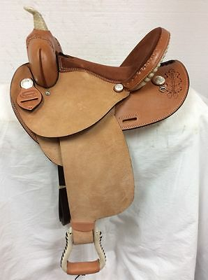 "Dakota Saddlery  New 14"" #300 Flex Barrel Racing Saddle Full Quarter Horse Bar"