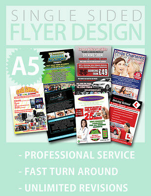 Custom Flyer Design Service - Single Sided - Fast - A5