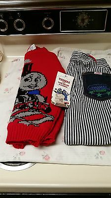 childrens thomas the tank engine sweater&engineer pants-size l-7&6r-nwt